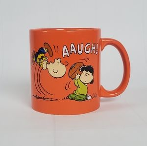 Peanuts Charlie Brown and Lucy Orange Coffee Mug
